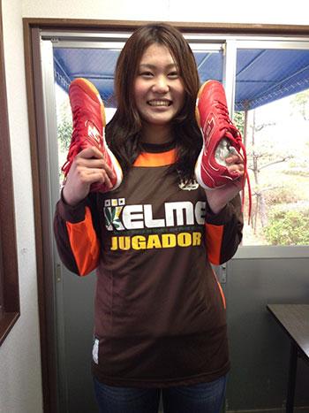 「チームの女子部員 山口輝 さんが MVP をいただきました!」