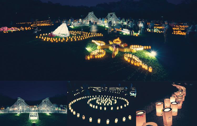 『明石城築城400周年記念事業「光の明石城」開催時に行われた「明石城光のアート」&「明石城キャンドルナイト」』
