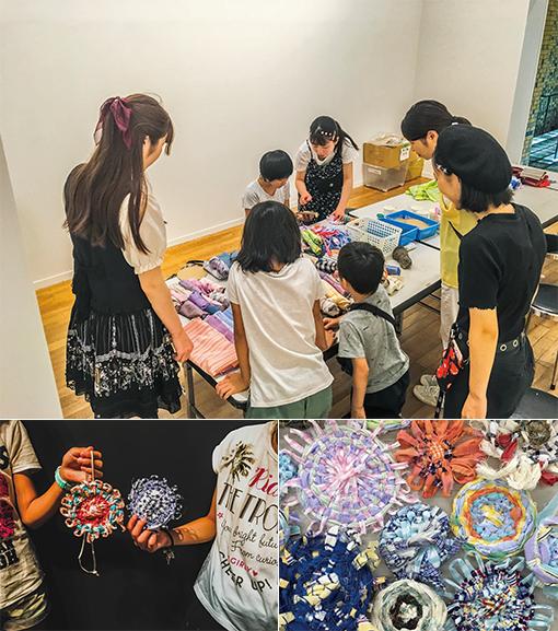 13.岡之山美術館子ども織物体験教室     からっぽ美術館IVくるくる織りのワークショップ